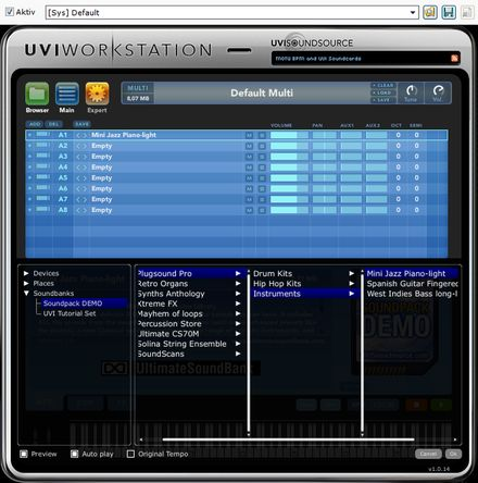 UVI Workstation Demo Soundset Jazz Piano Light Klangbeispiel