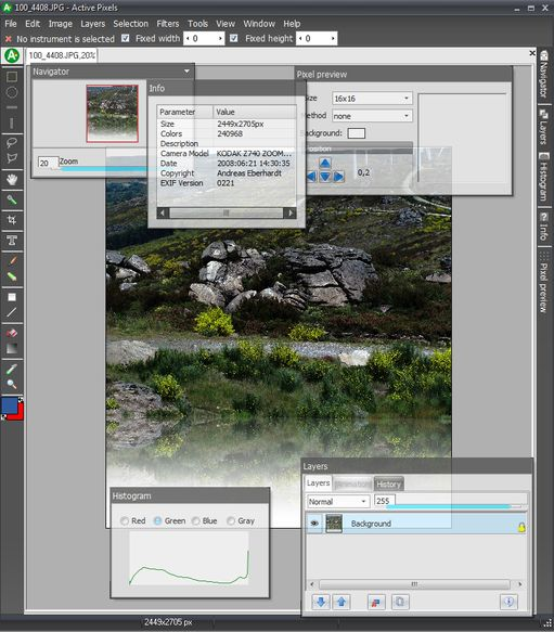 ActivePixels 3.02 Photoshop Clone