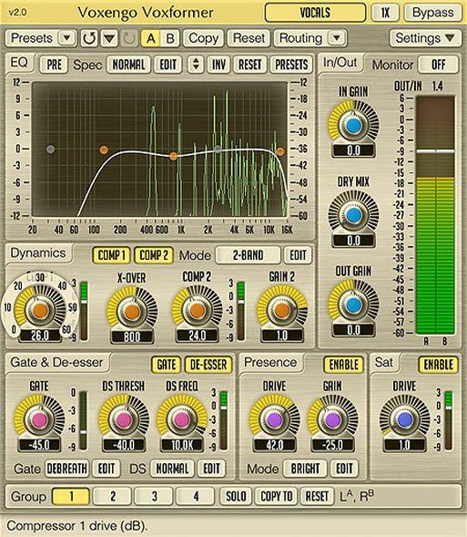 Voxengo Voxformer V2 pro Audio Plugin zur Vocal Bearbeitung