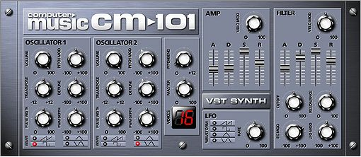 CM-101, analoger 16 stimmiger Synthesizer (Plugin)