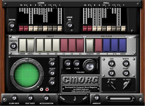 Cmorg, VST Plugin Orgel Emulation.