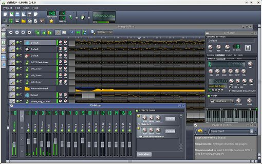 LMMS Audio/Midi Sequenzer Freeware für Windows und Linux, die kostenlose FL-Studio Alternative?