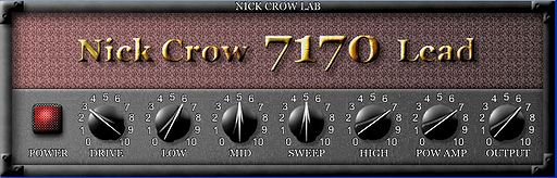 Nick Crow 7170 lead VST AMP Simulation Plugin