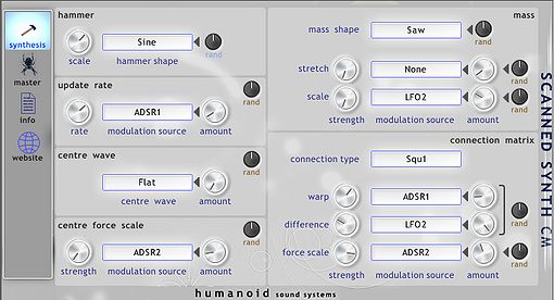 ScannedSynth CM, VST Plugin Synthesizer