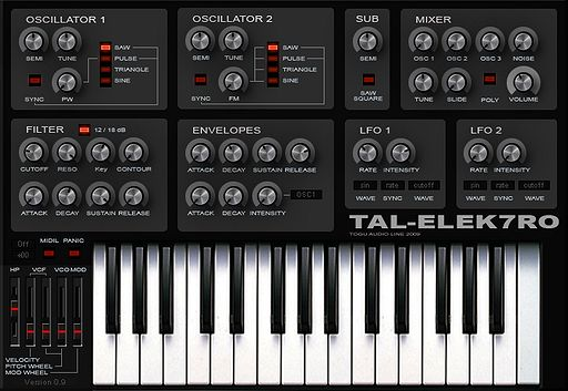 tal elek7ro Freeware VST Tipp: TAL Elek7ro Synthesizer