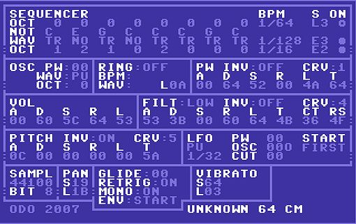 Unknown 64 CM, SID Chip Emulator VST