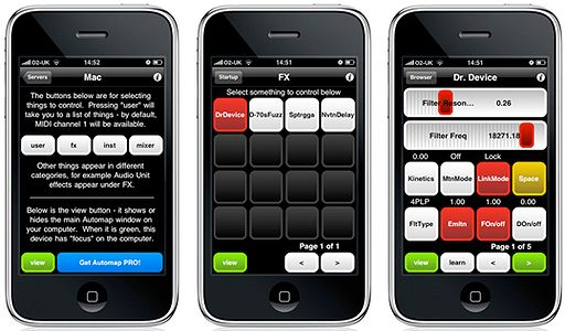 iphone novation automap remote control