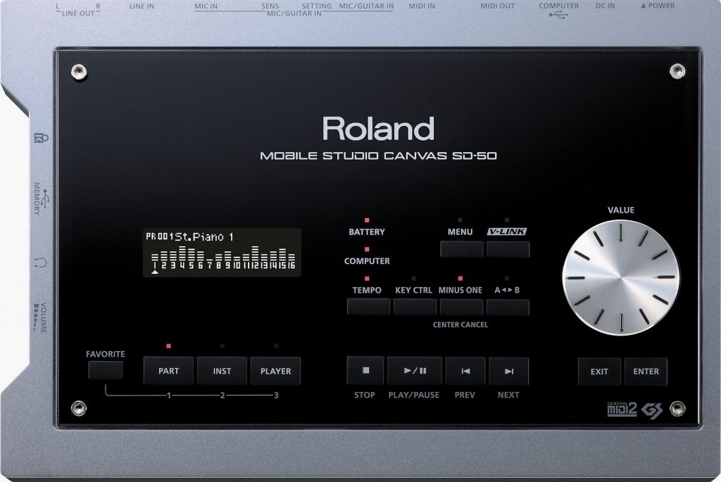 Roland Mobile Studio Canvas SD-50 Draufsicht