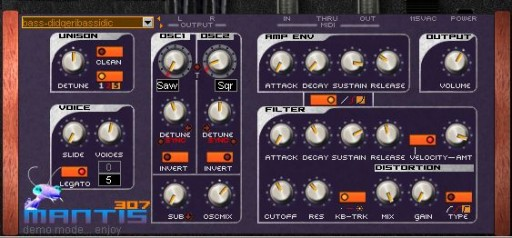 subatomic labs - mantis 307 synthesizer plugin vst