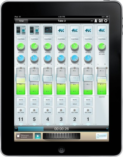 studiotrack 8 Spur recording mixer für apple iPad