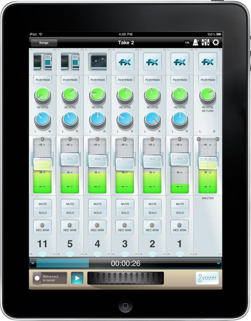 studiotrack 8 Spur recording mixer für apple iPad