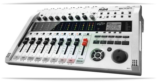 zoom r24 mobile 24 track multitrack recorder