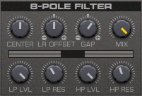 8 Pol Filter des REAKTOR Spark von Native Instruments