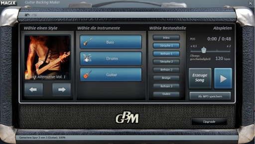 MAGIX Guitar Backing Maker kostenlose virtuelle Band