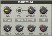 Die Specialsektion zur Feedbackmodulation im REAKTOR Spark von Native Instruments