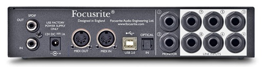 Focusrite Scarlett18i6 Rear