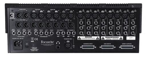 Focusrite Control 2802 Rear
