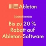 Sparen im Winter bei Ableton 20 % Rabatt auf Software