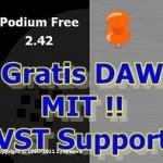 DAW absolut gratis, PODIUM Free 2.42 von Zynewave