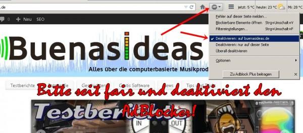 Bitte unterstützt buenasideas.de indem Ihr den Adblocker für diese Seite deaktiviert, es kostet Euch nichts und hier und da ein Klick auf ein inetressantes Angebot hilft uns buenasideas.de weiter zu betreiben!
