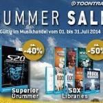 TOONTRACK  SUMMER-SALES  Juli  2014