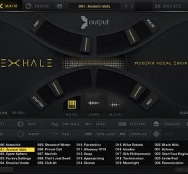 Der Main Screen von EXHALE