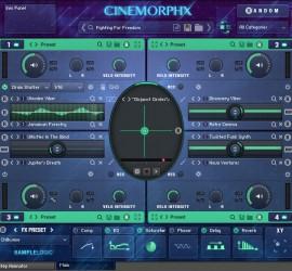 Der Main Screen von CinemorphX in der Multi Core Ansicht.