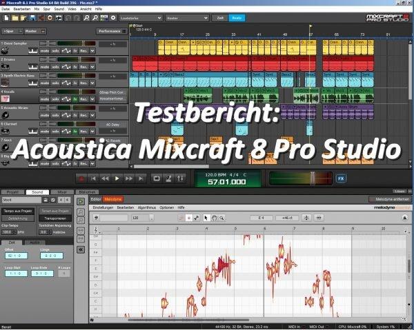 Testbericht Mixcraft 8 Pro Studio