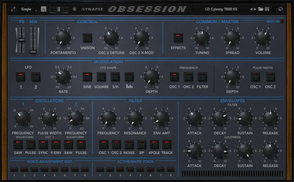 SYNAPSE AUDIO SOFTWARE OBSESSION