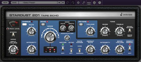 CHERRY AUDIO STARDUST 201 TAPE ECHO - Theme Blue